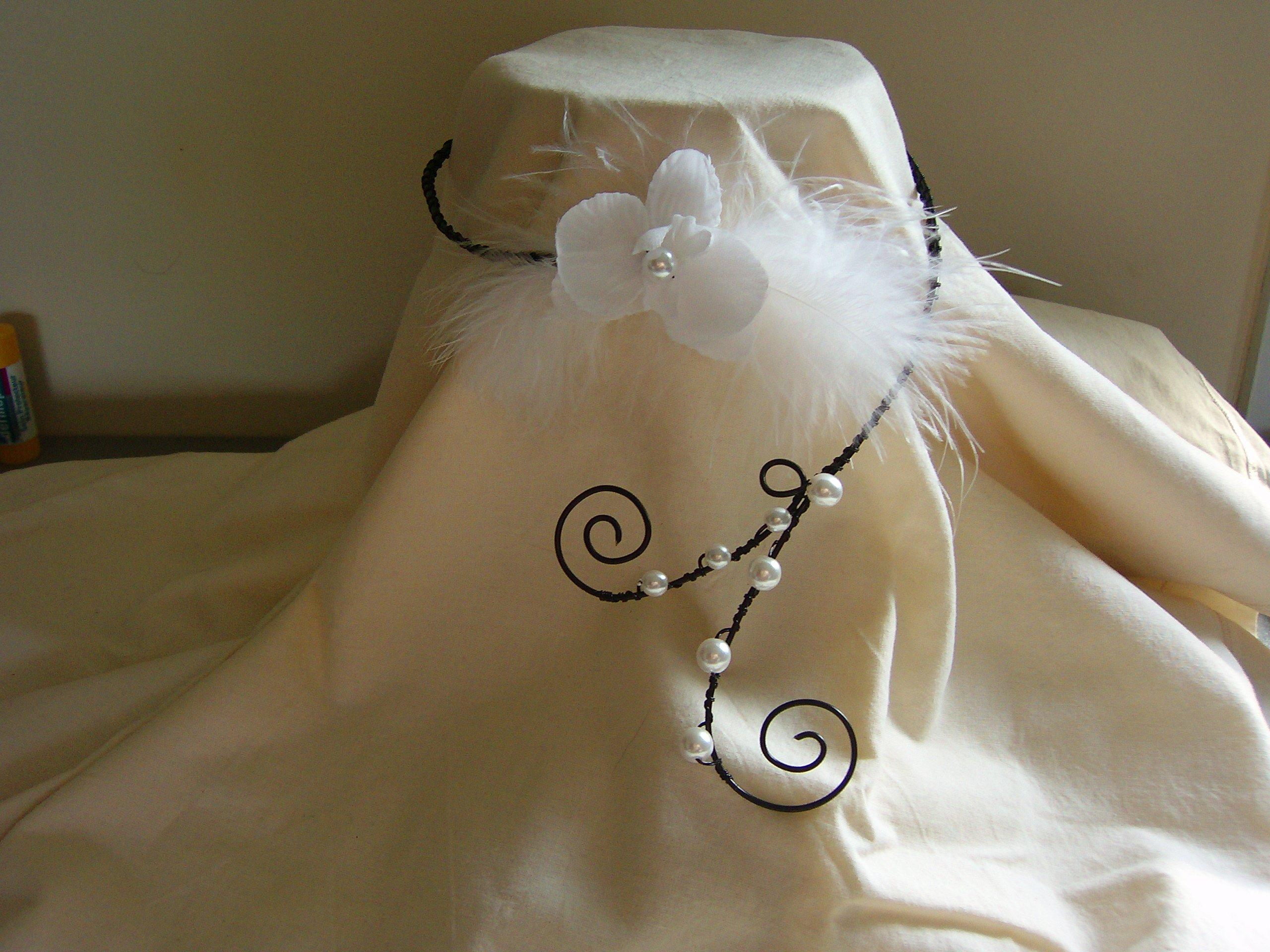 bijoux noir et blanc d co mariage f tes et colliers accessoires fait main. Black Bedroom Furniture Sets. Home Design Ideas